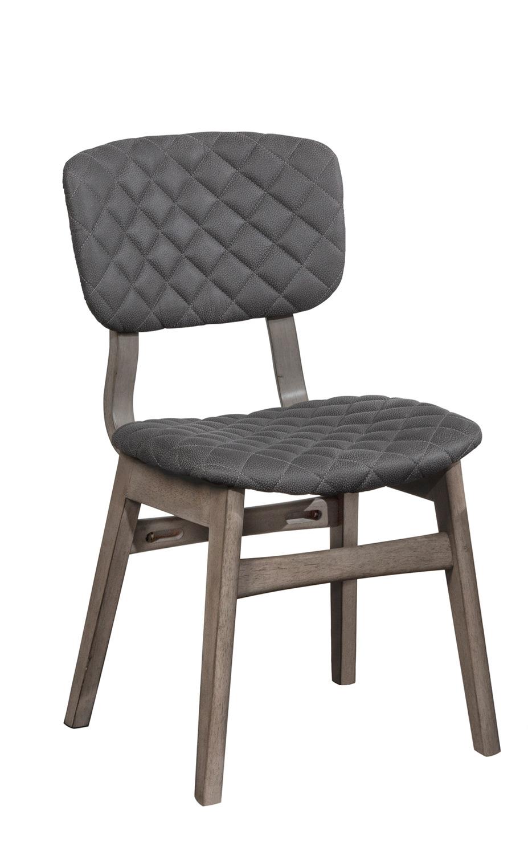 Hillsdale Alden Bay Modern Diamond Stitch Dining Chair - Weathered Gray- Set of 2