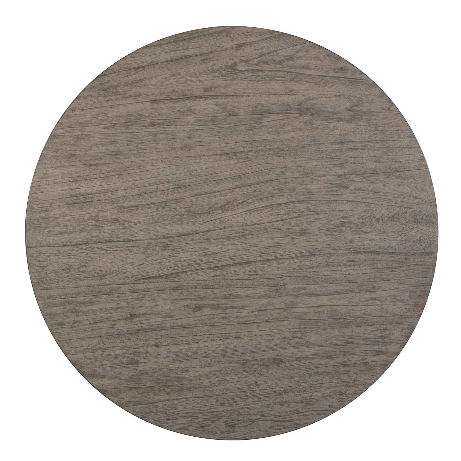 Hillsdale Alden Bay Modern Round Wood Dining Table - Weathered Gray
