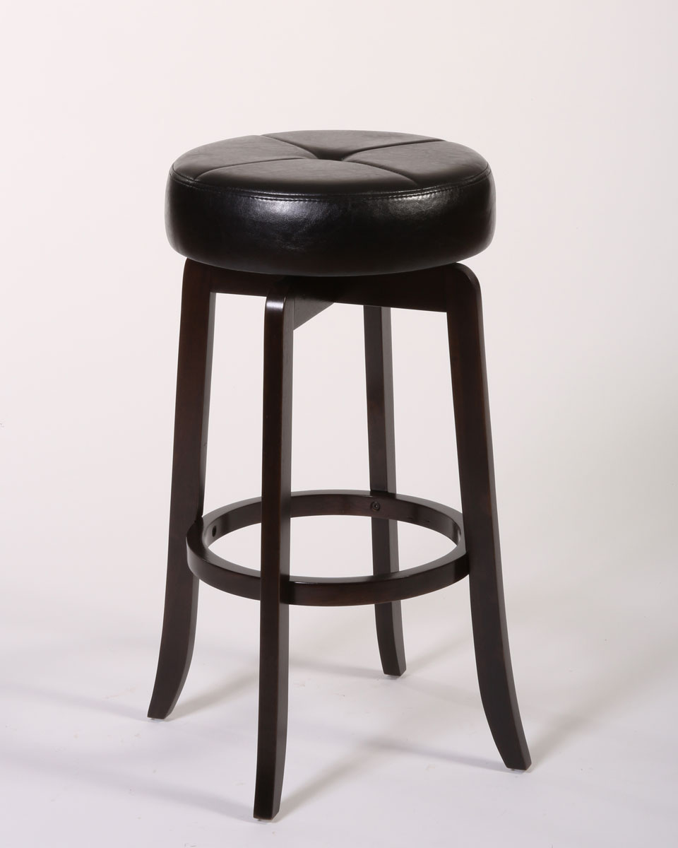 Hillsdale Rhodes Backless Bar Stool - Walnut