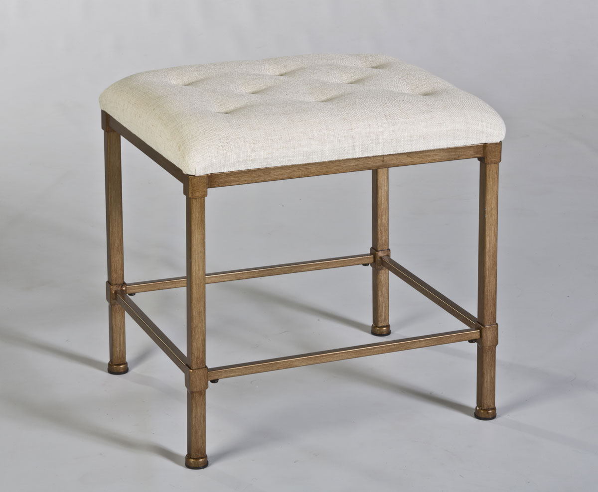 Hillsdale Katherine Backless Vanity Stool - Golden Bronze