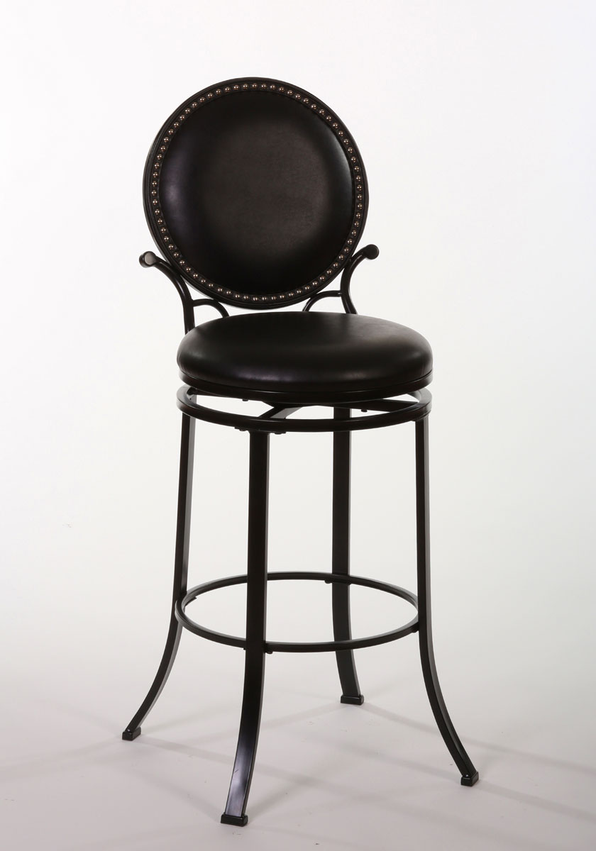 Hillsdale Spencer Swivel Bar Stool - Matte Black