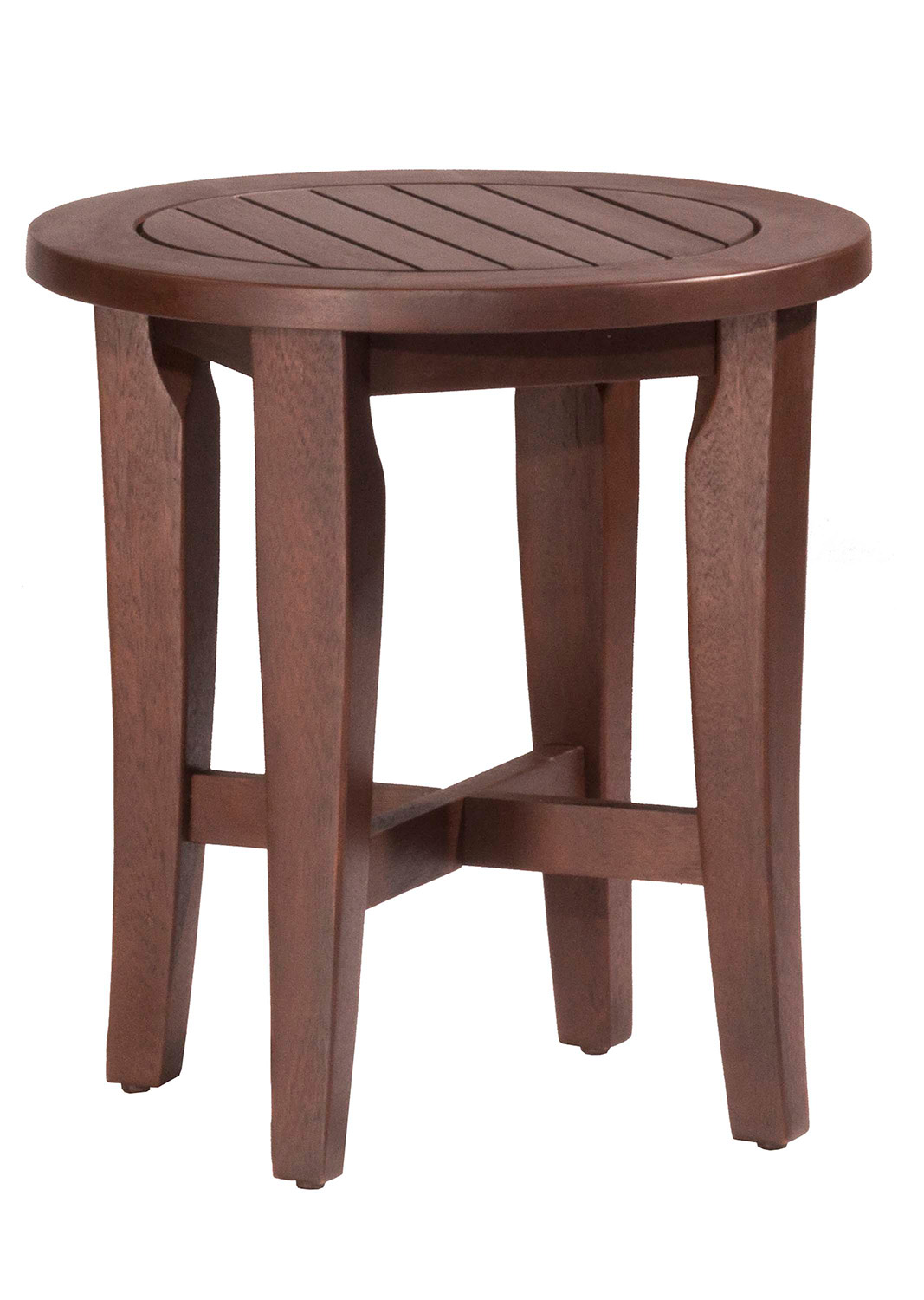 Hillsdale Preston Round Vanity Stool - Walnut