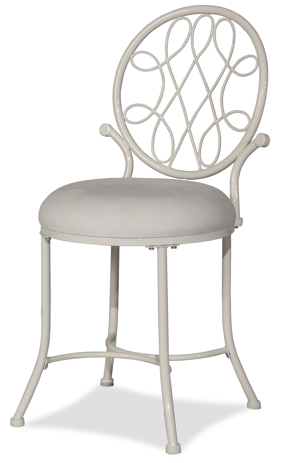 Hillsdale O Malley Vanity Stool White 51052