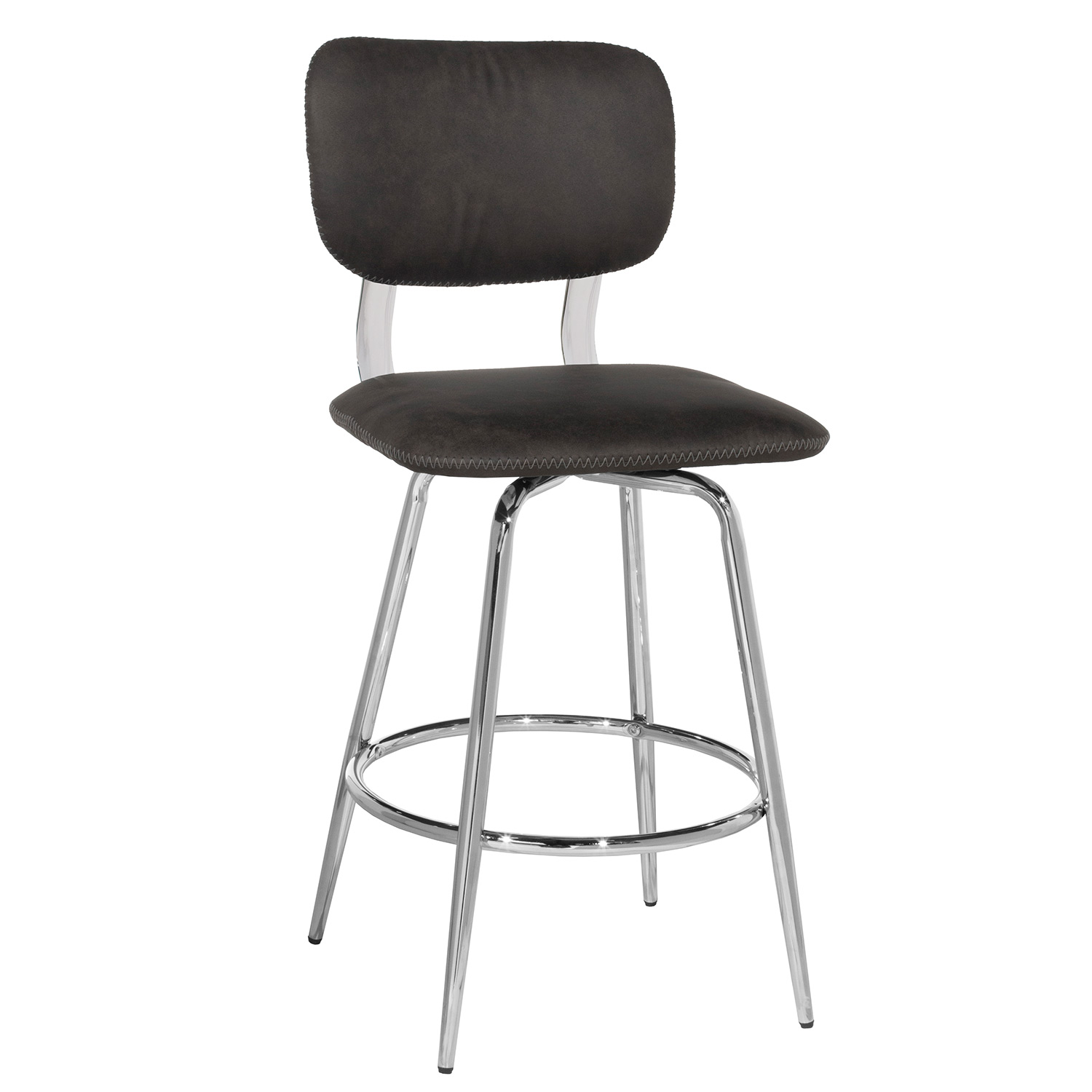 Hillsdale Bloomfield Retro Metal Swivel Counter Height Stool - Chrome- Set of 2