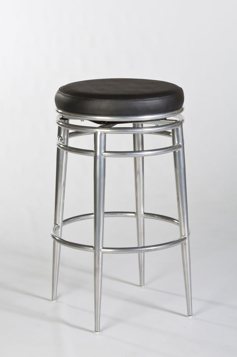 Hillsdale Hyde Park Backless Swivel Bar Stool Chrome