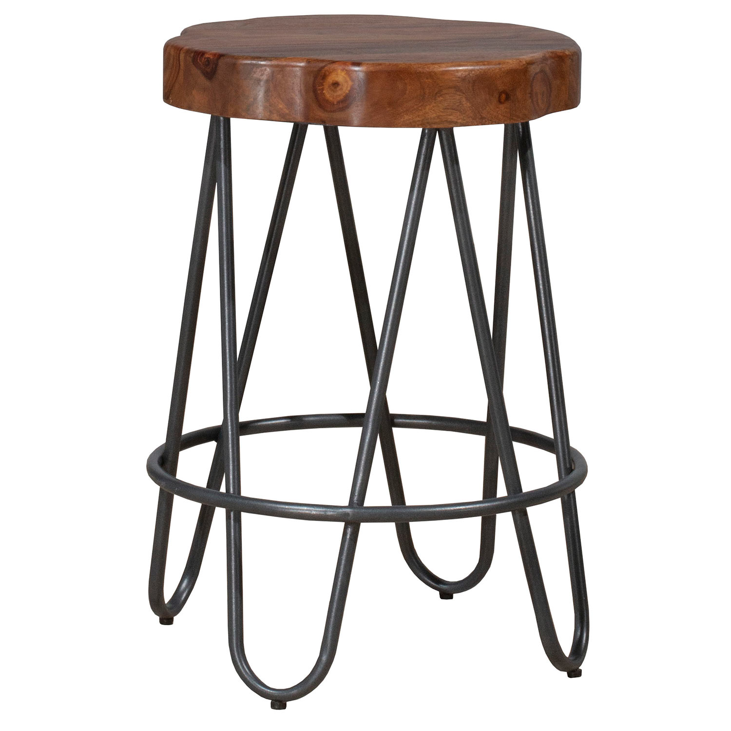 Hillsdale Pembra Backless Counter Height Stool - Natural Sheesham
