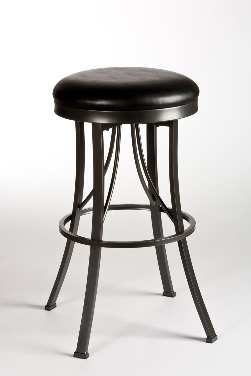 Hillsdale Ontario Backless Counter Stool Pewter 5149 826