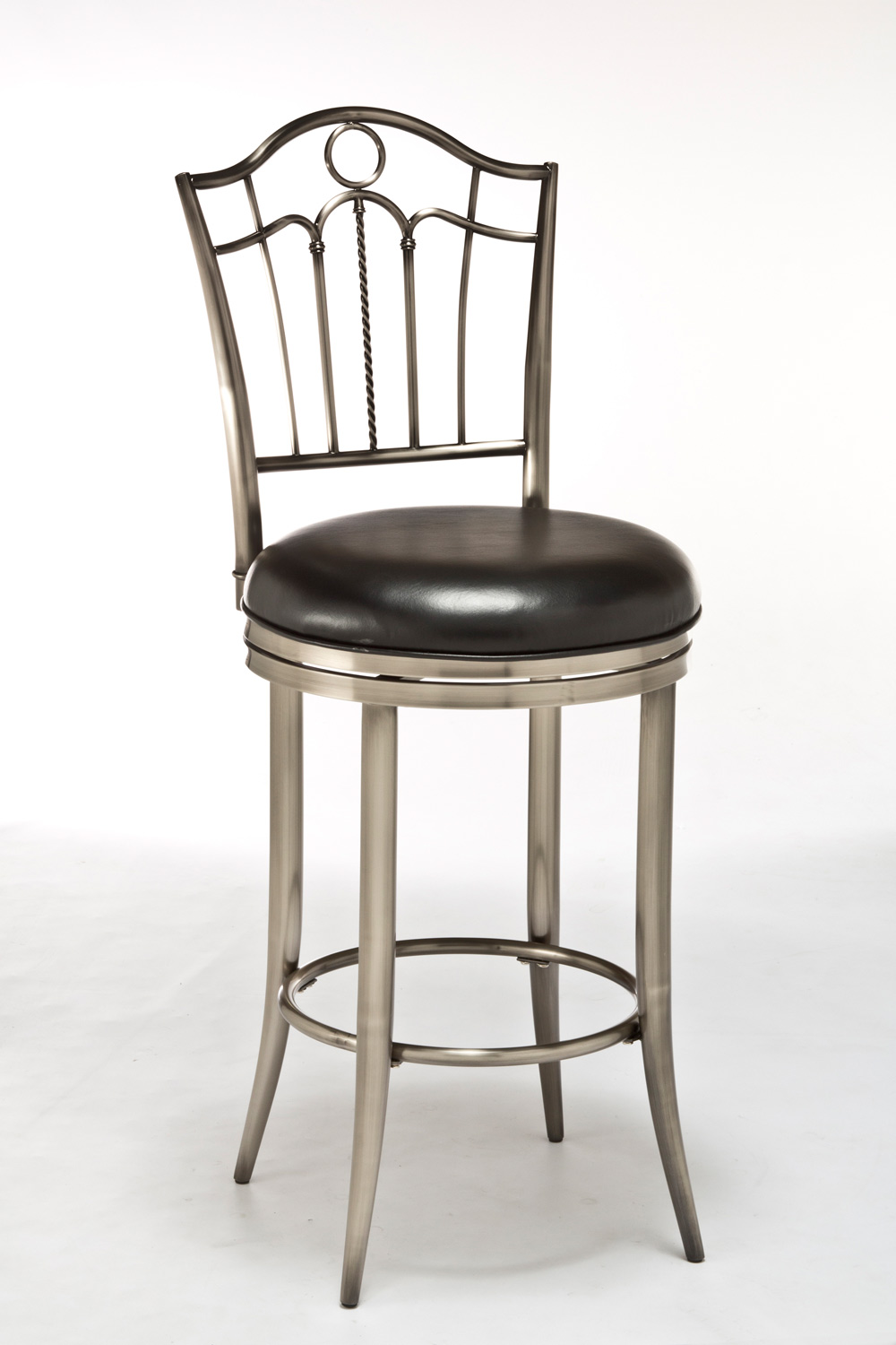 Hillsdale Portland Swivel Counter Stool Antique Nickel