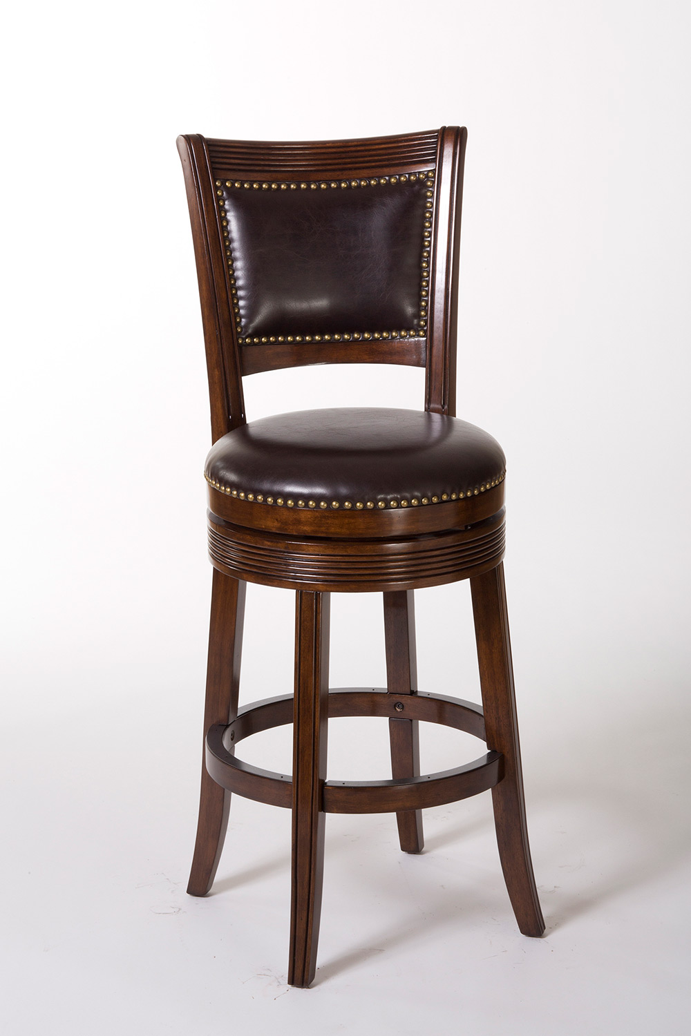 Hillsdale Lockefield Swivel Counter Stool - Espresso/Dark Brown PU