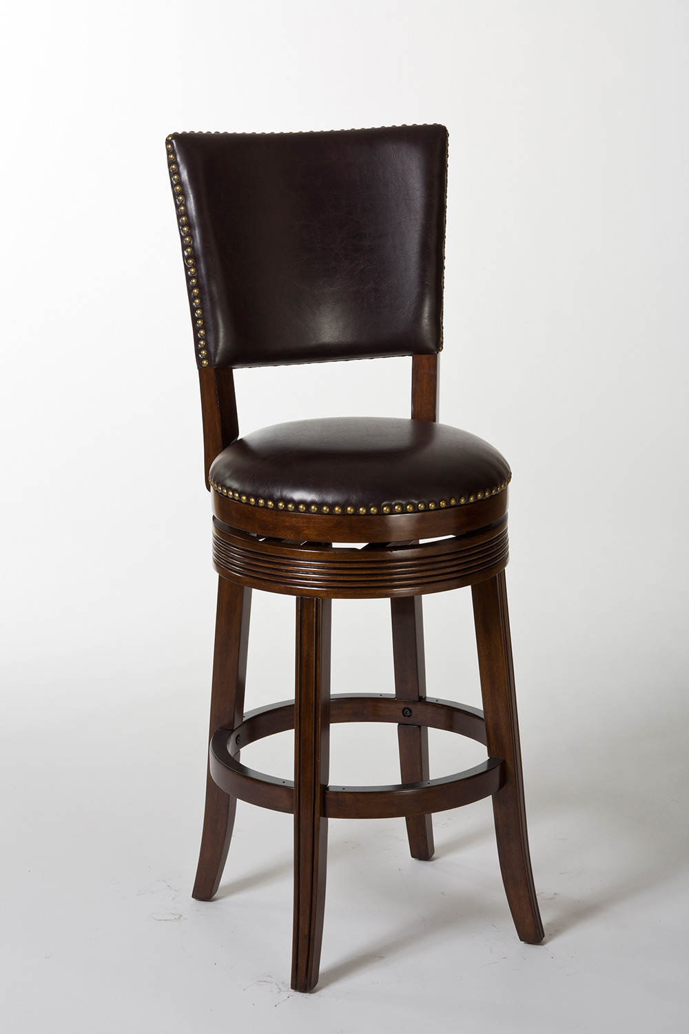 Hillsdale Sonesta Swivel Counter Stool - Espresso/Dark Brown PU