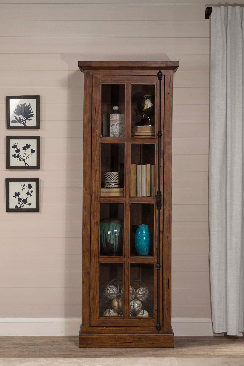 Hillsdale Tuscan Retreat Tall Single Door Cabinet - Antique Pine - Hillsdale Tuscan Retreat Tall Single Door Cabinet - Antique Pine