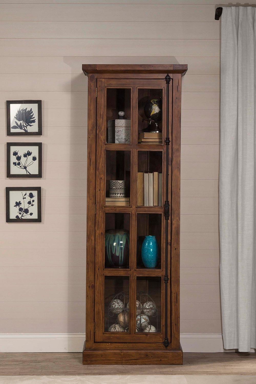 Hillsdale Tuscan Retreat Tall Single Door Cabinet - Antique Pine