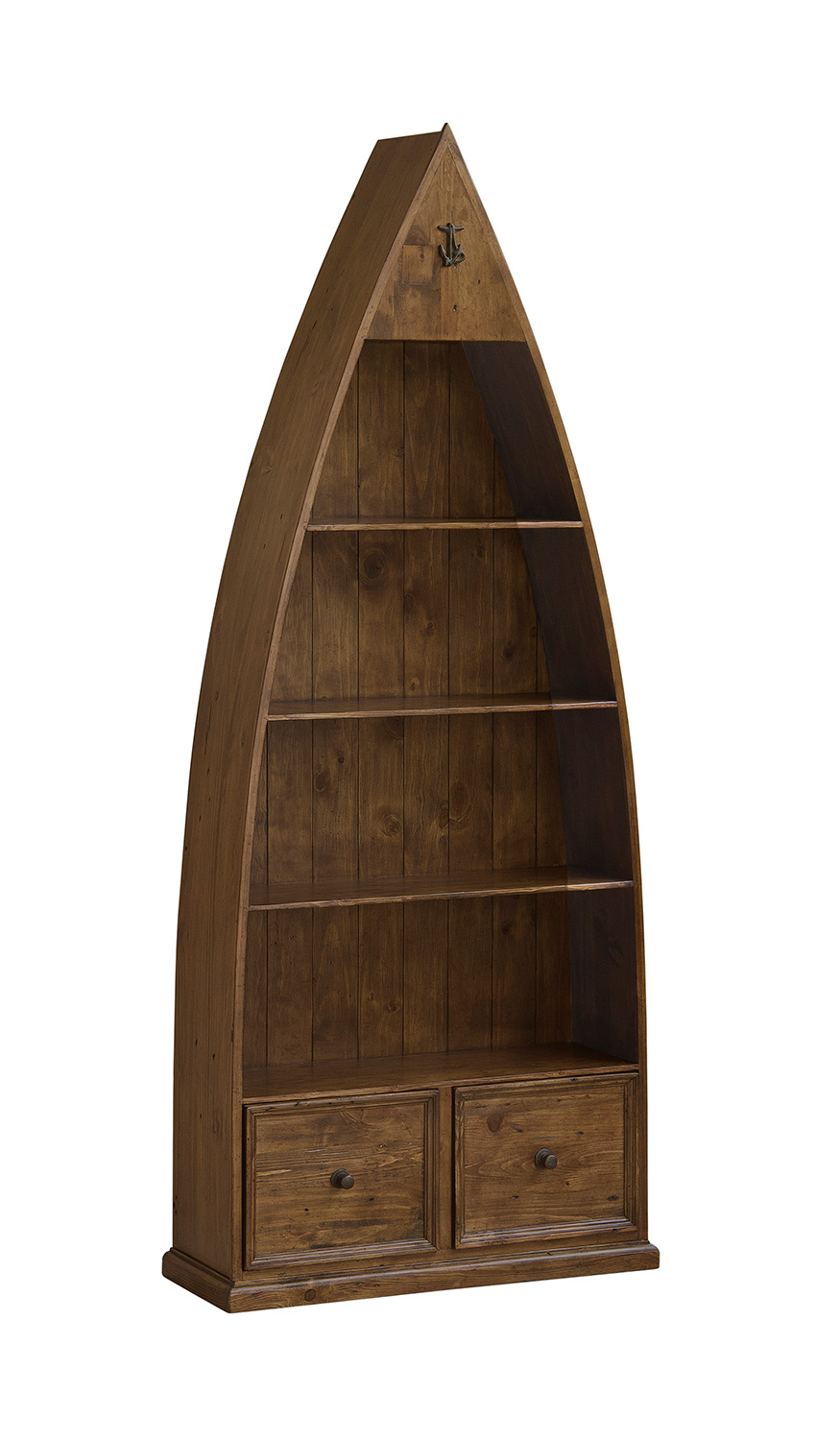 Hillsdale Tuscan Retreat Boat Bookshelves and Storage - Antique Pine