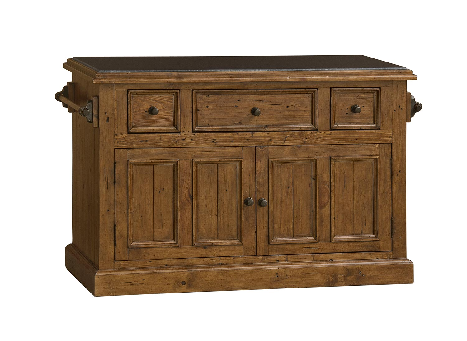 Hillsdale Tuscan Retreat Large Granite Top Kitchen Island - Antique Pine