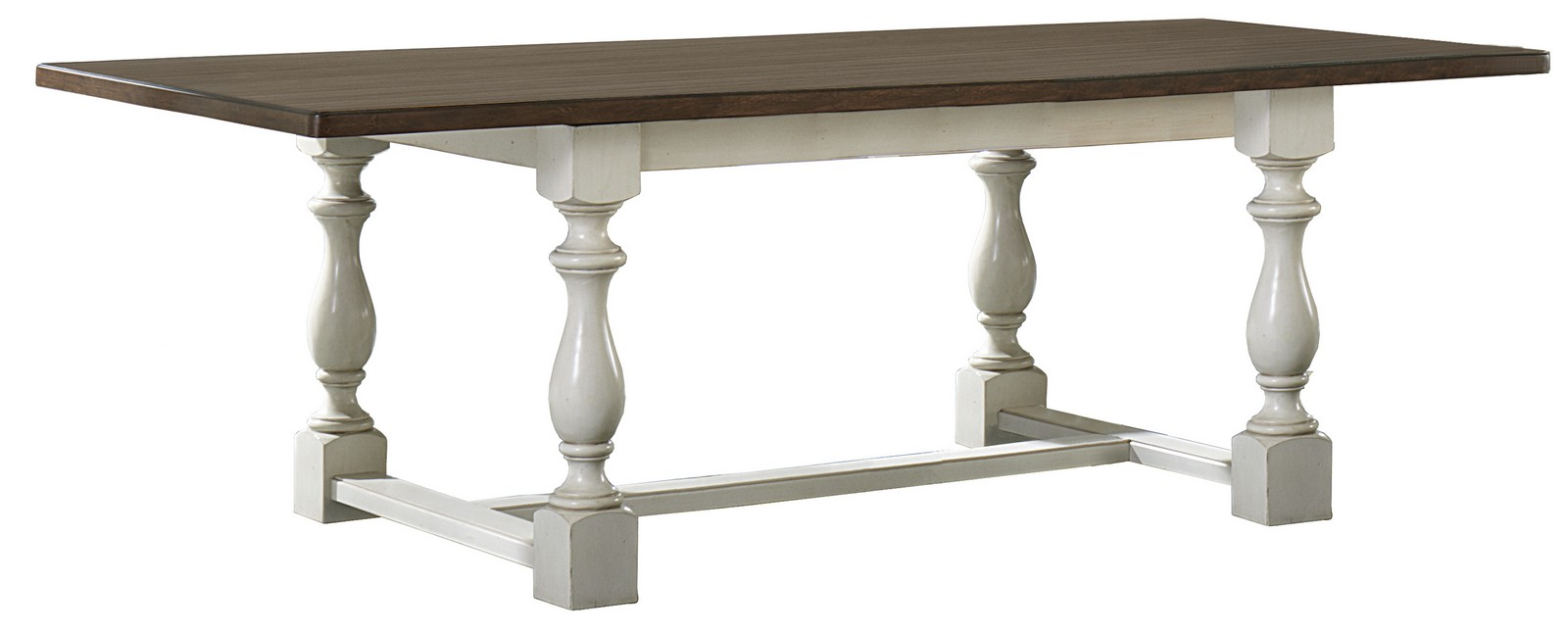 Captivating Hillsdale Pine Island Leg Trestle Table   Old White