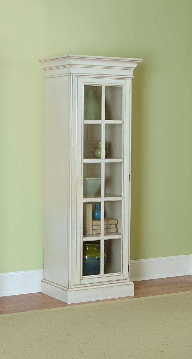 Hillsdale Pine Island Small Library Cabinet Old White