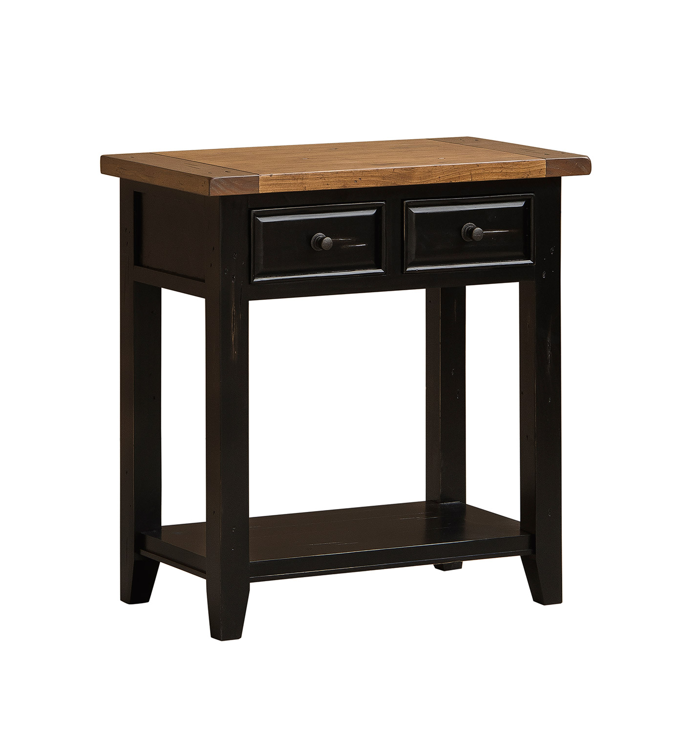 Hillsdale Tuscan Retreat 2 Drawer Hall Console Table - Black/Oxford