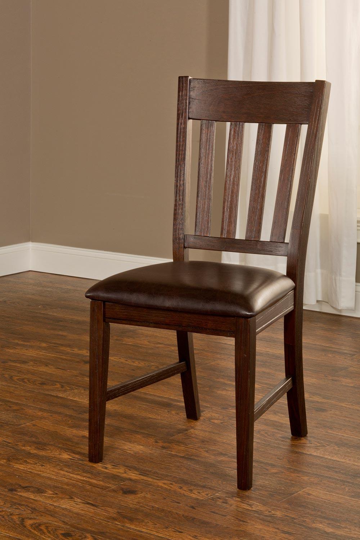 Hilale Brooklawn Dining Chair Smoke Brown Dark Vinyl