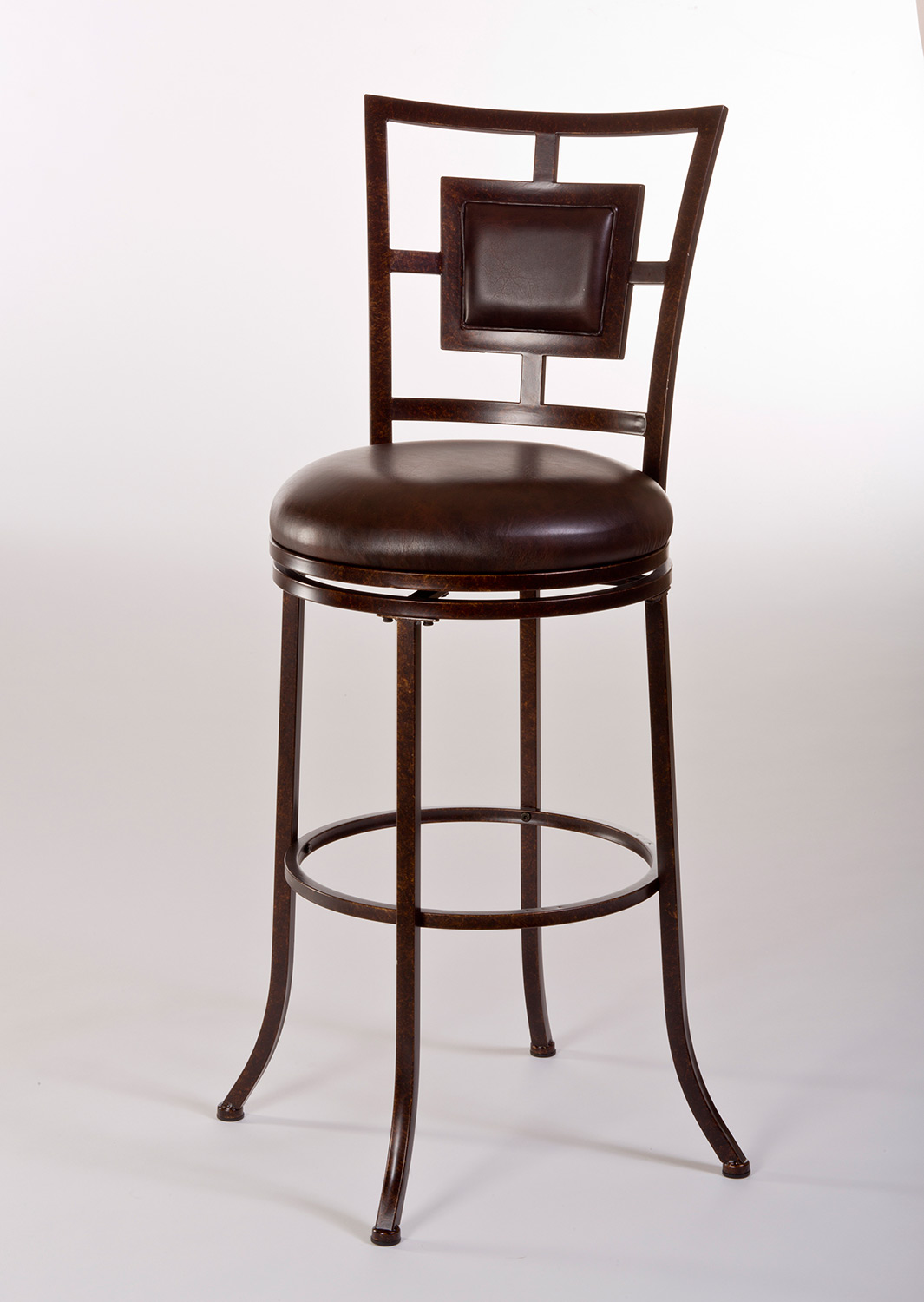 Hillsdale Foxholm Swivel Counter Stool - Antique Copper/Dark Brown PU