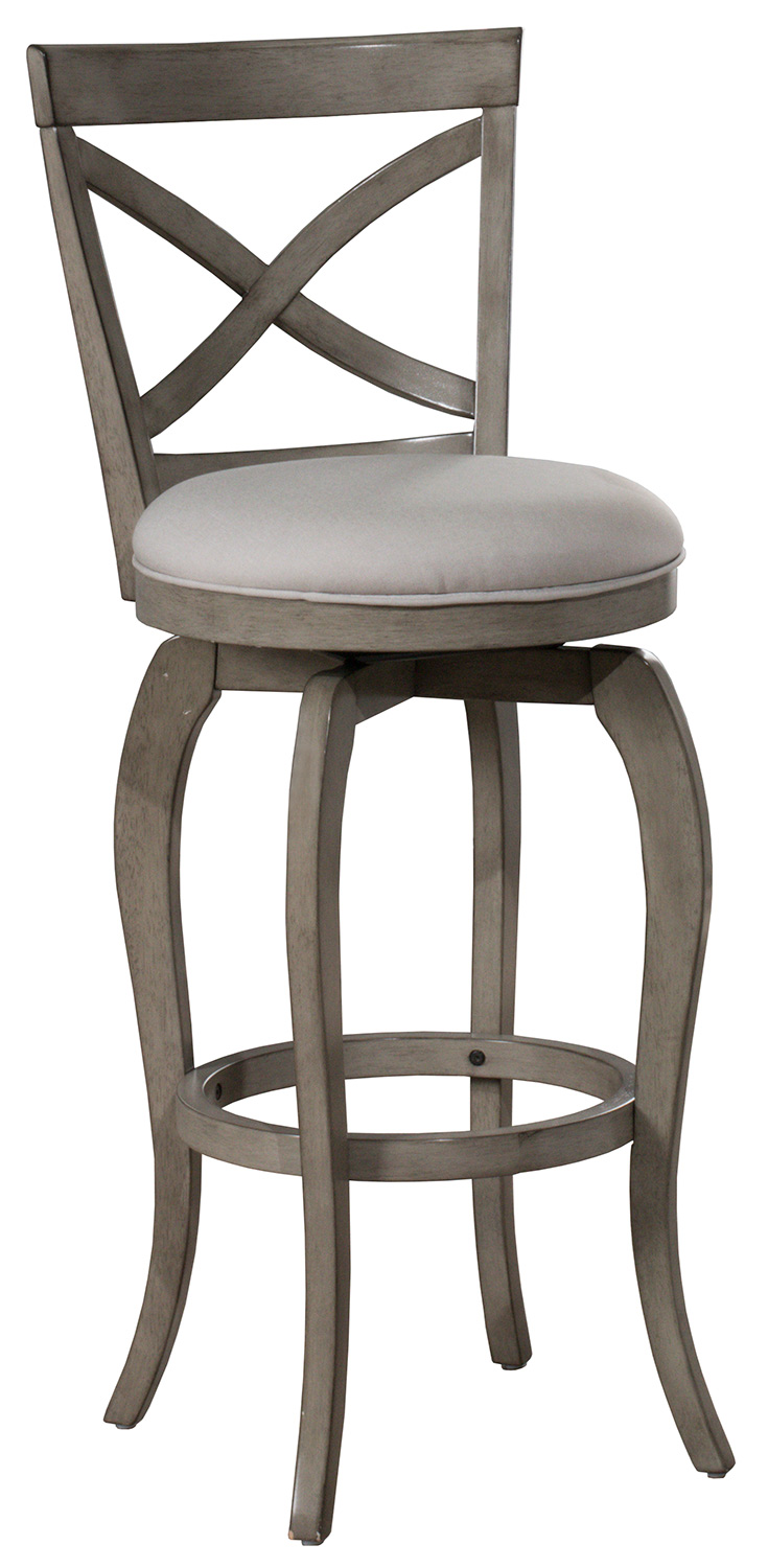 Hillsdale Ellendale Swivel Counter Height Stool - Aged Gray