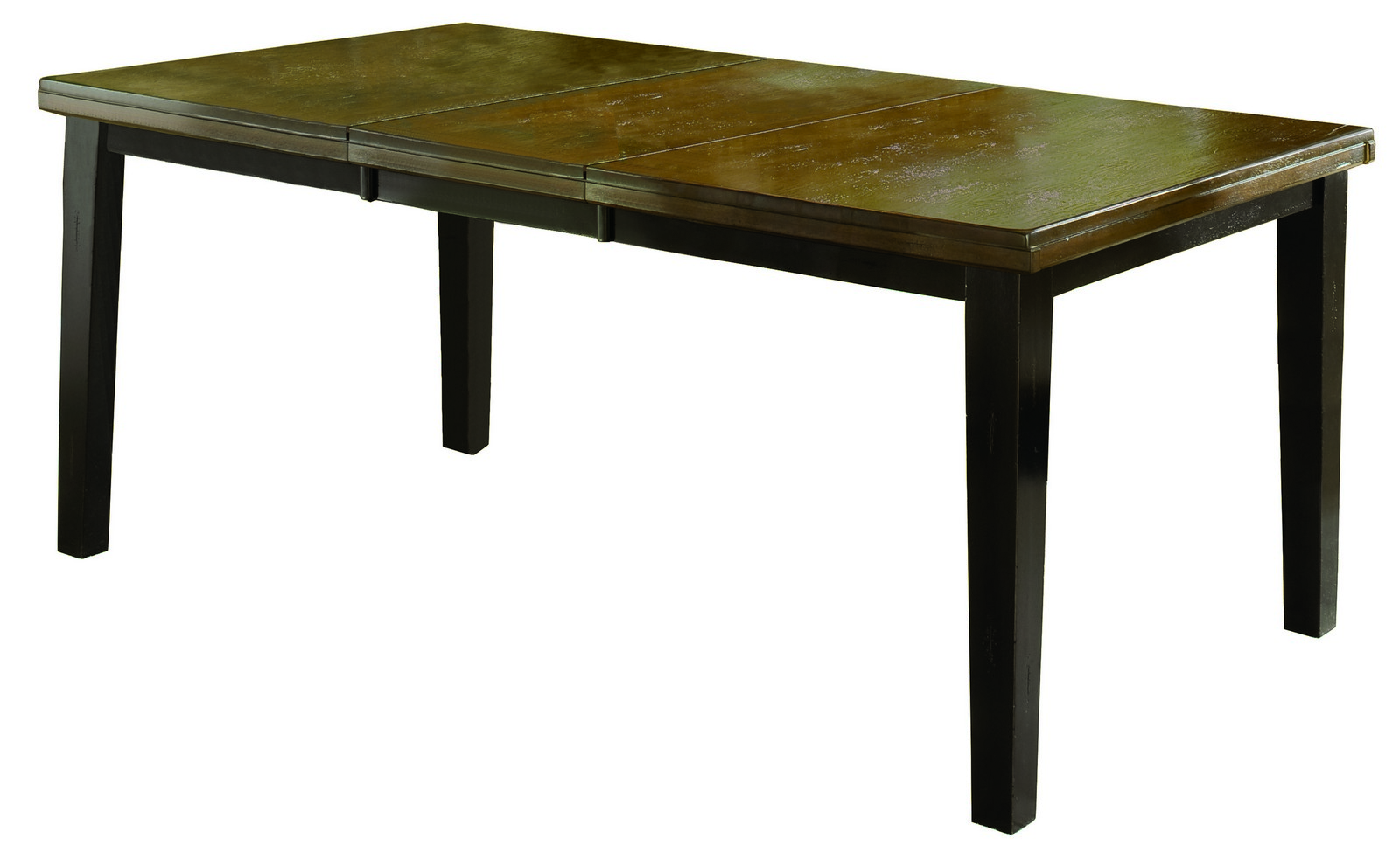 Hillsdale killarney dining table w butterfly leaf black for Black dining table with leaf