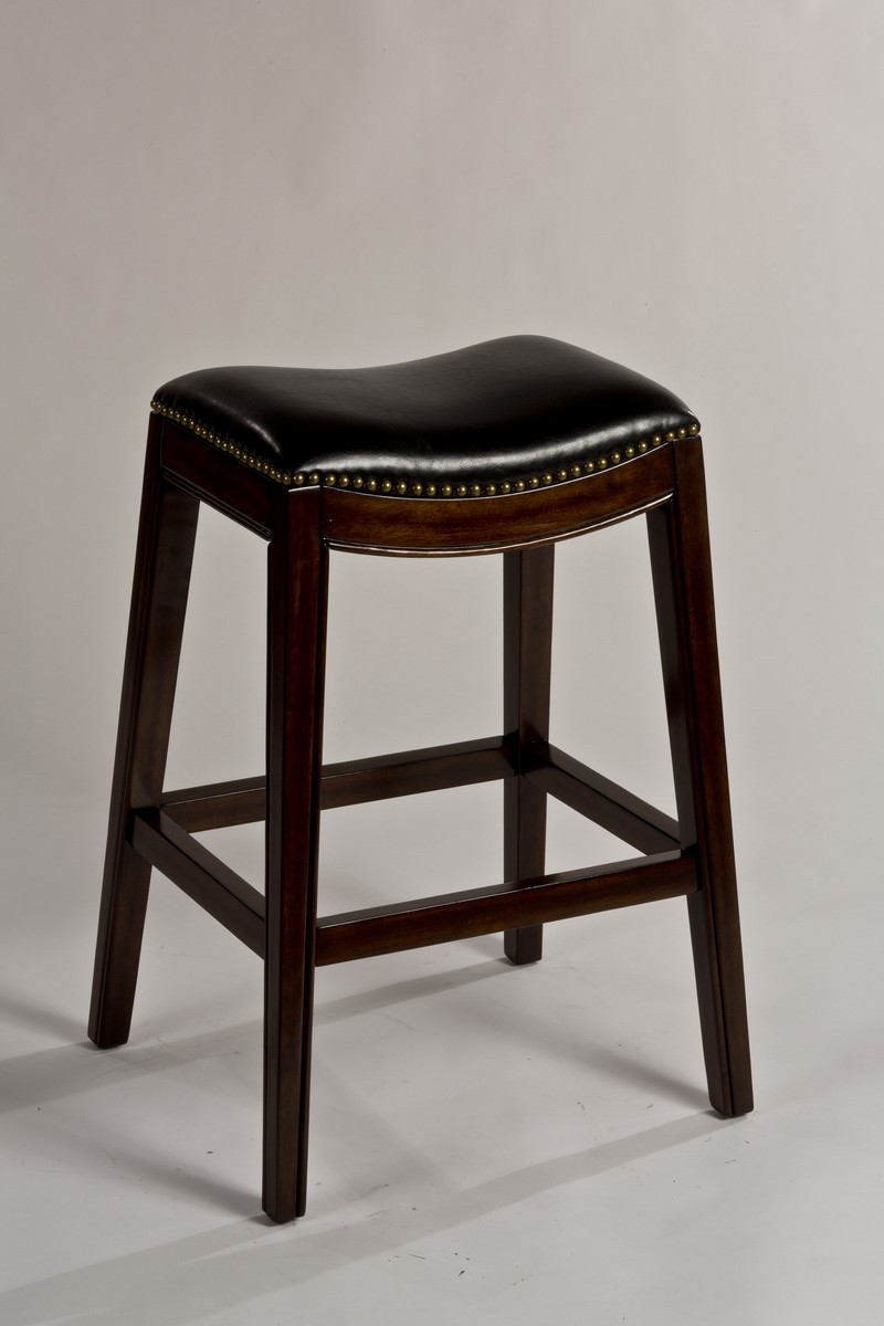 Admirable Hillsdale Sorella Non Swivel Backless Bar Stool Espresso Black Pu Gmtry Best Dining Table And Chair Ideas Images Gmtryco