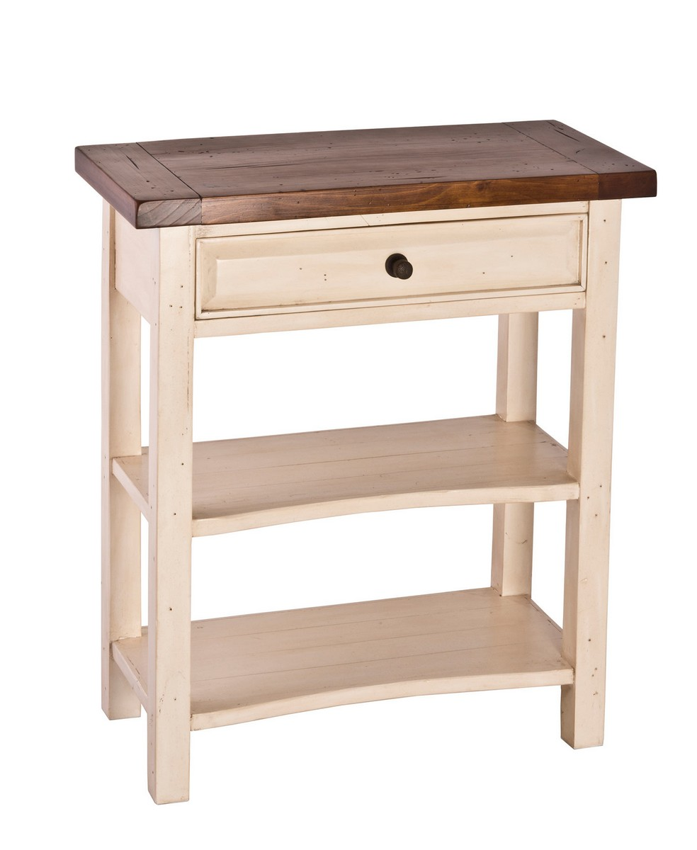Hillsdale Tuscan Retreat Console Table   White/Antique Pine