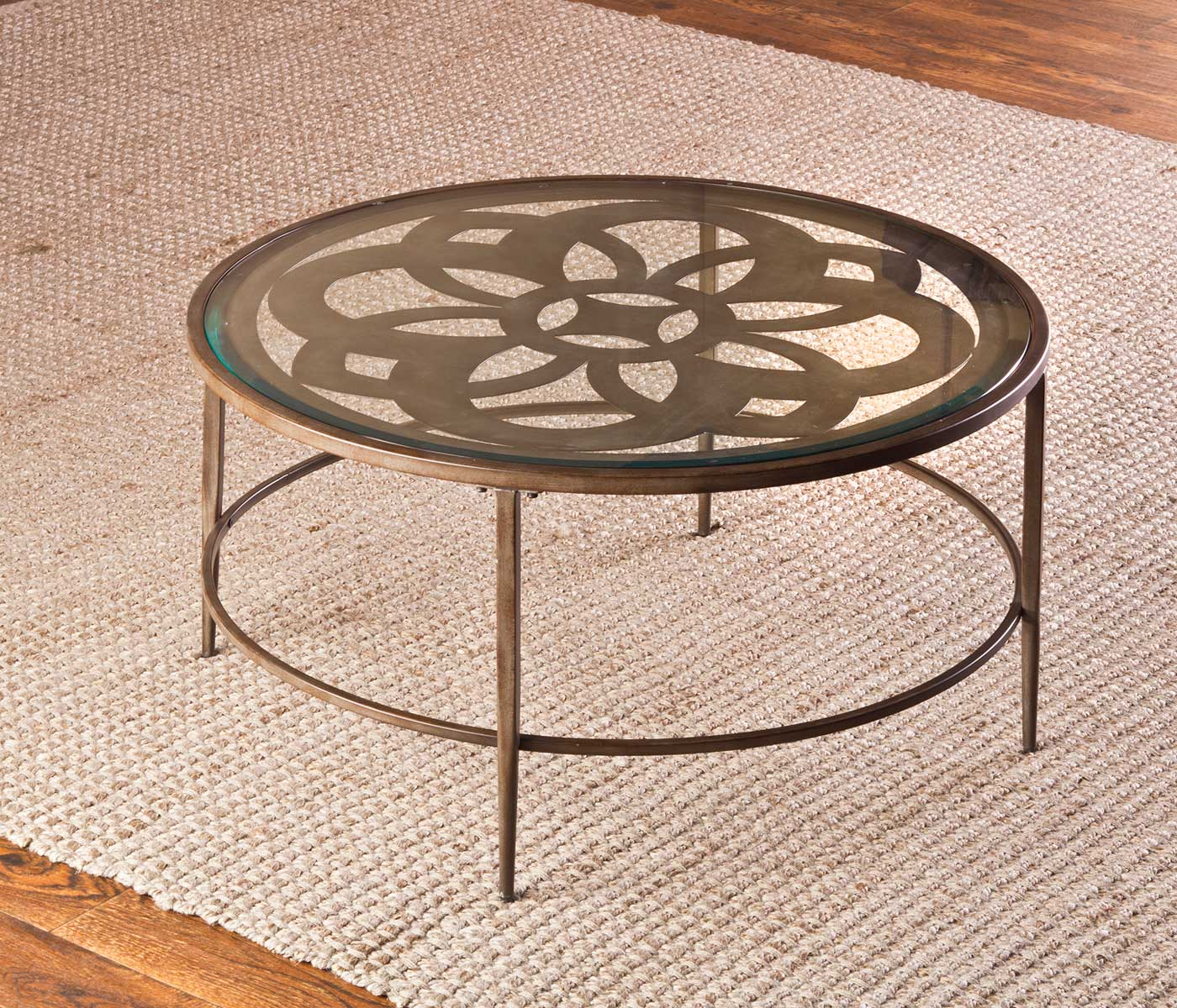 Hillsdale Marsala Coffee Table   Glass