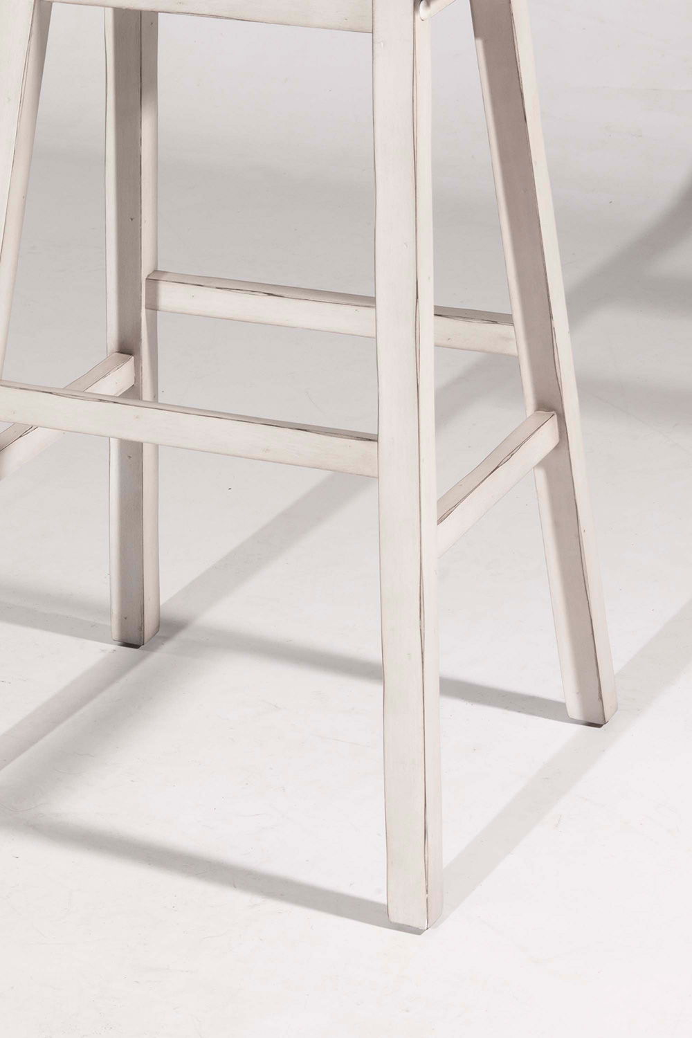 Hillsdale Moreno Non-Swivel Backless Counter Stool - White