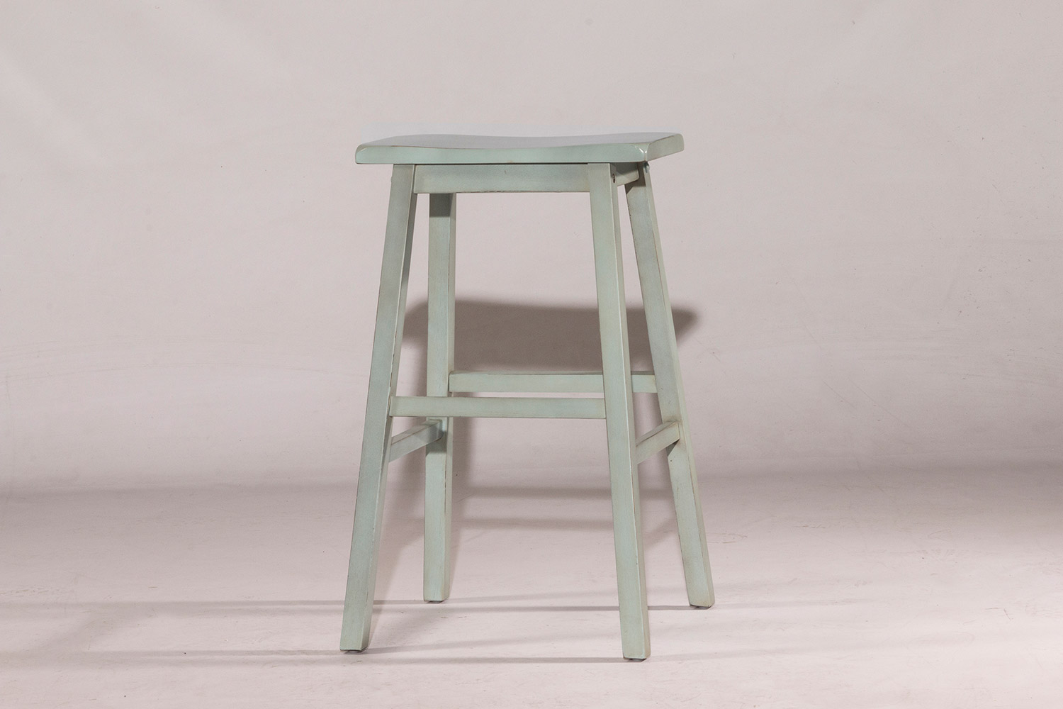 Hillsdale Moreno Non-Swivel Backless Bar Stool - Blue/Gray - Ecru Fabric