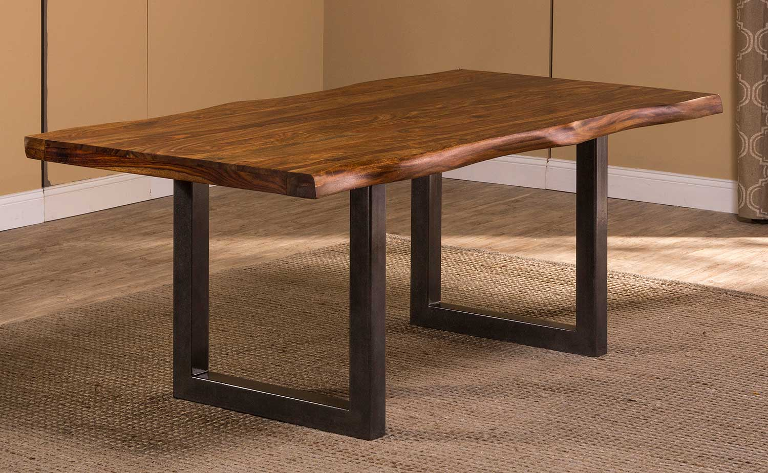 Hillsdale Emerson Rectangle Dining Table - Natural Sheesham/Gray Powder Coat