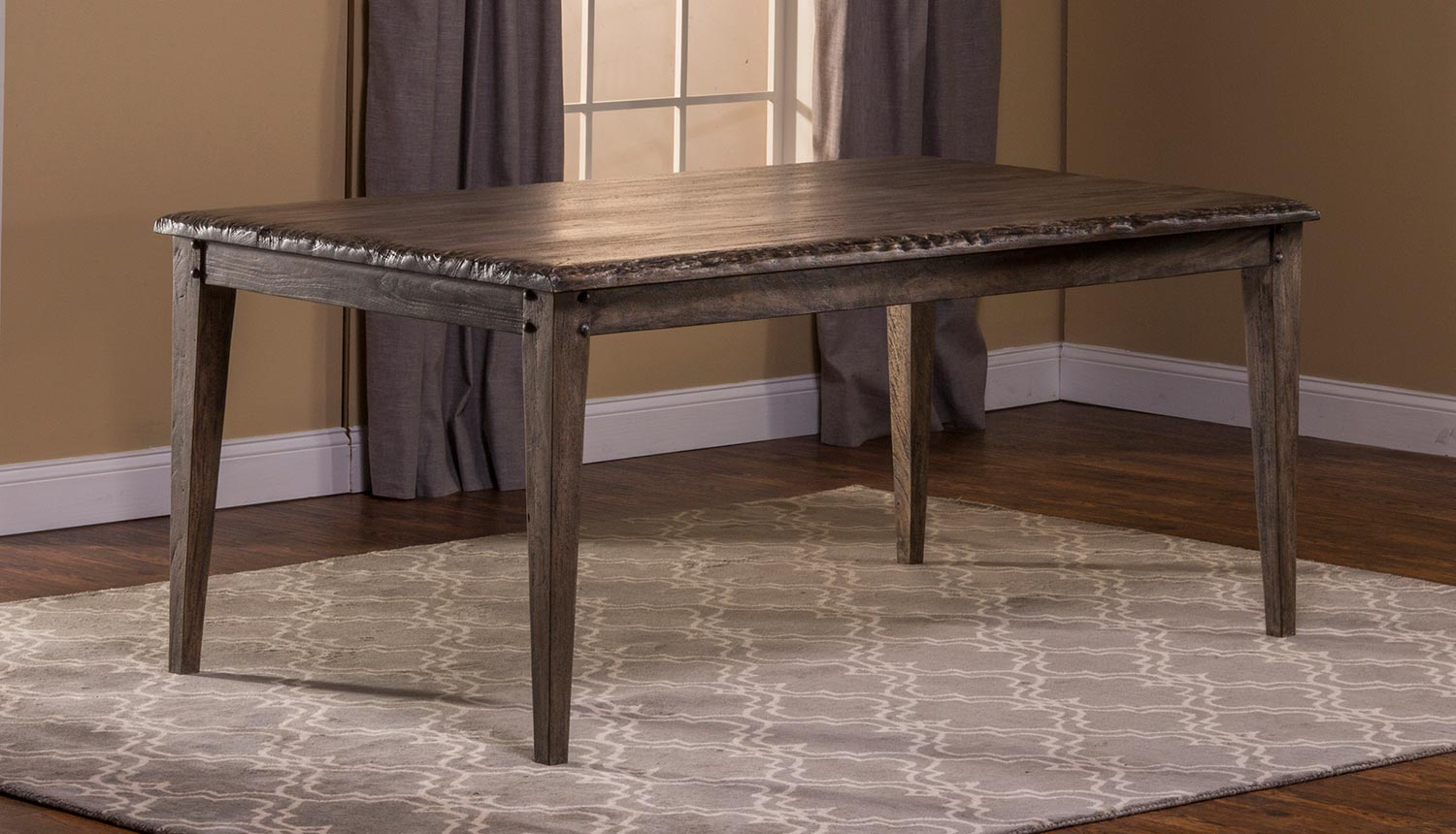 hillsdale lorient rectangle dining table - washed charcoal gray 5678 Charcoal Dining Table