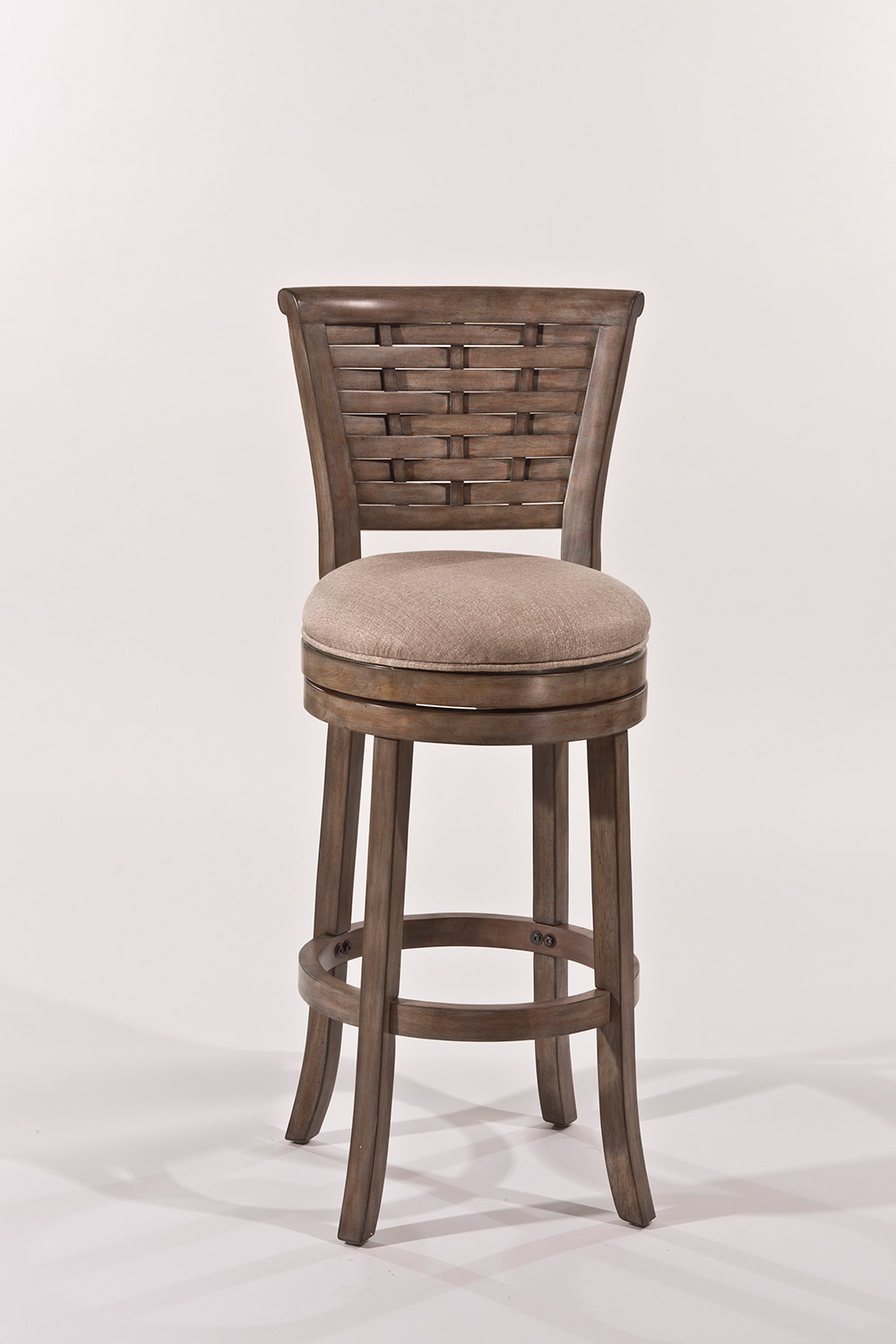 Hillsdale Thredson Swivel Bar Stool - Light Antique Graywash - Putty Fabric
