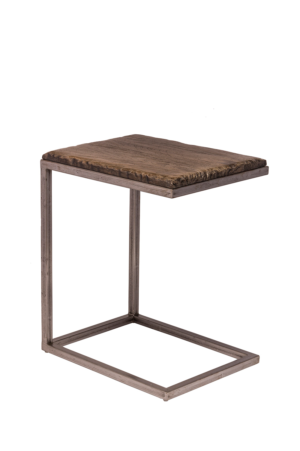 Hillsdale Lorient C Shape Accent Table Washed Charcoal