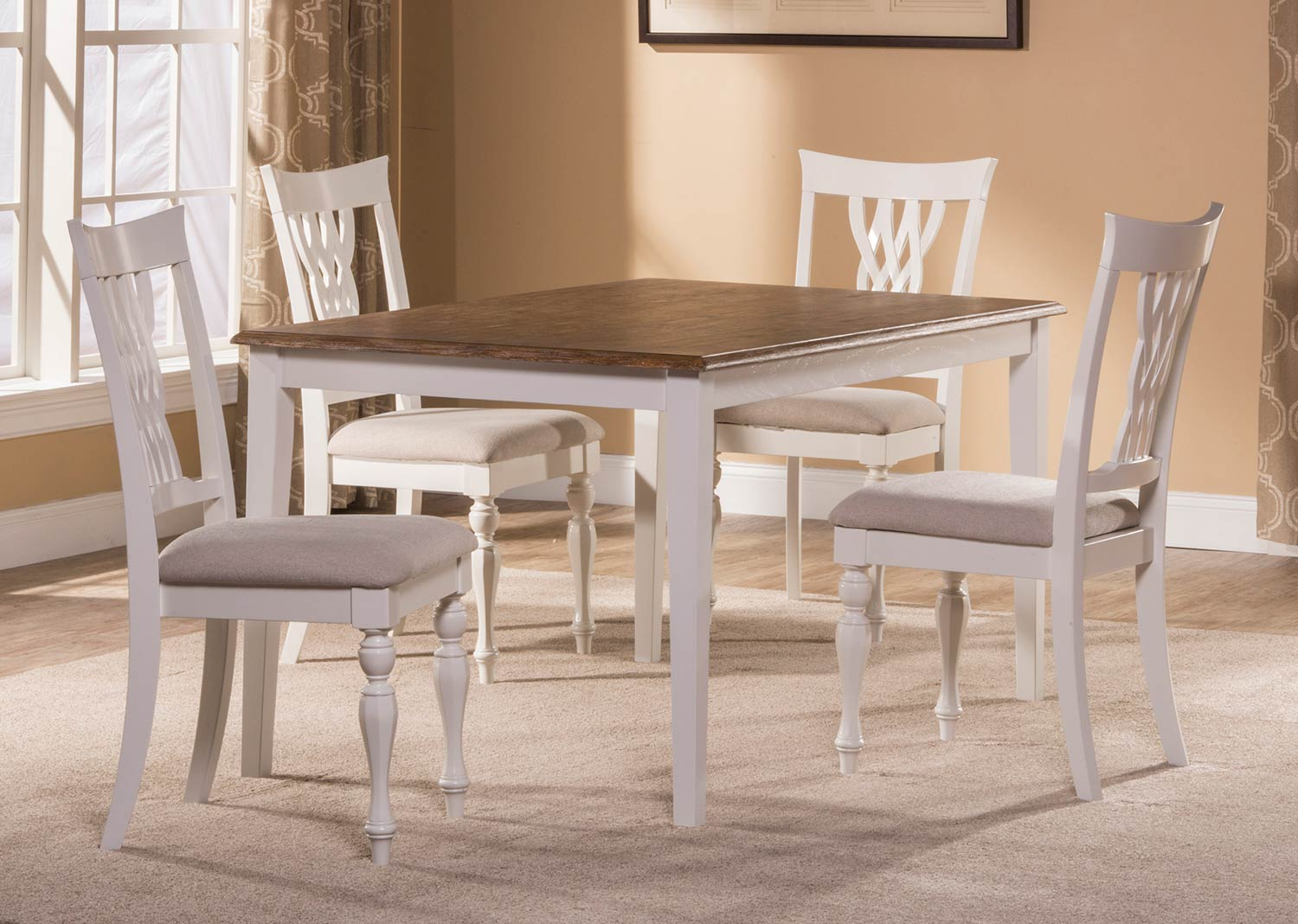 Hillsdale Bayberry-Embassy 5-Piece Rectangle Dining Set - White