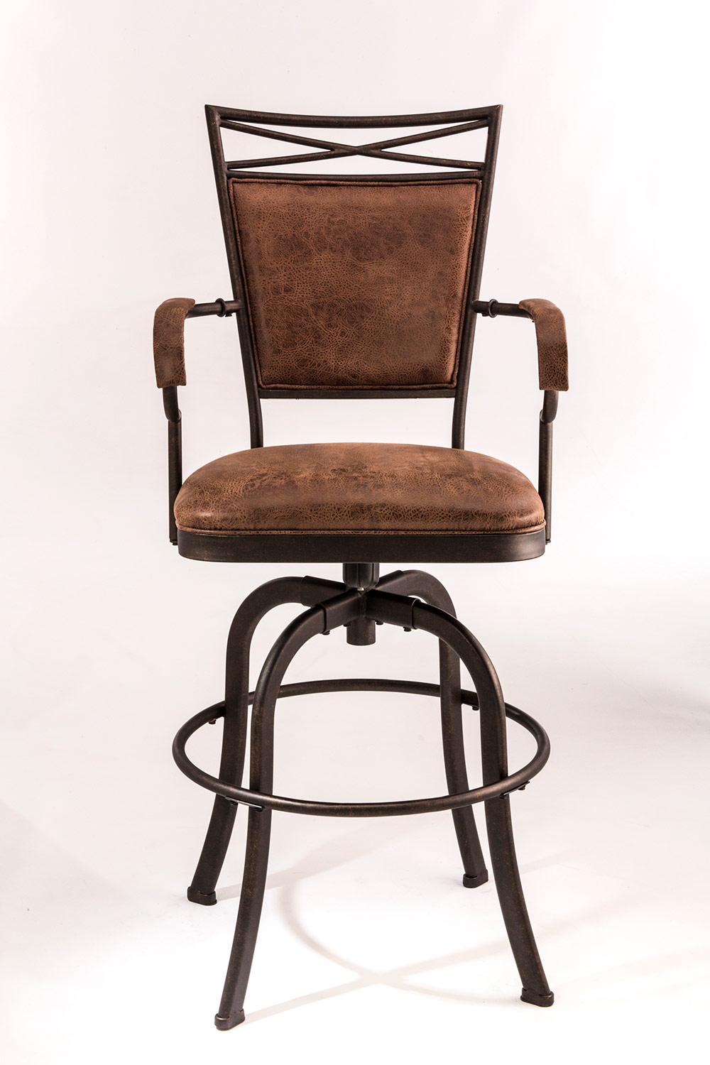 Hillsdale Bridgetown Tilt Base Bar Stool - Aged Bronze