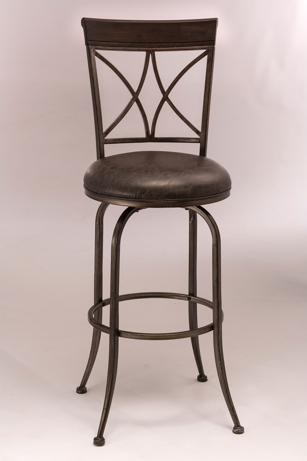 Hillsdale Killona Swivel Bar Stool Antique Pewter 5772