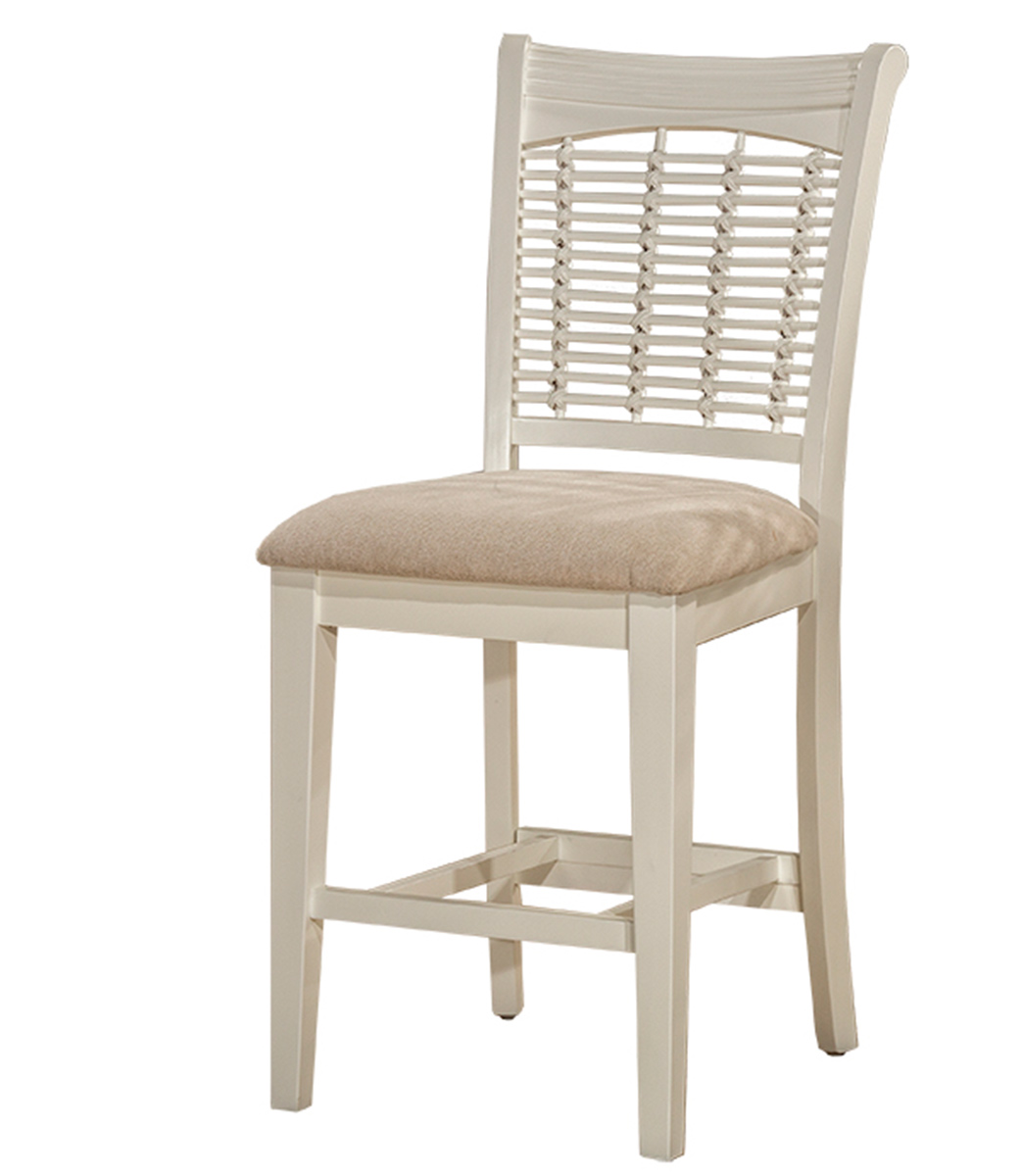 Hillsdale Bayberry Non-Swivel Counter Stool - White