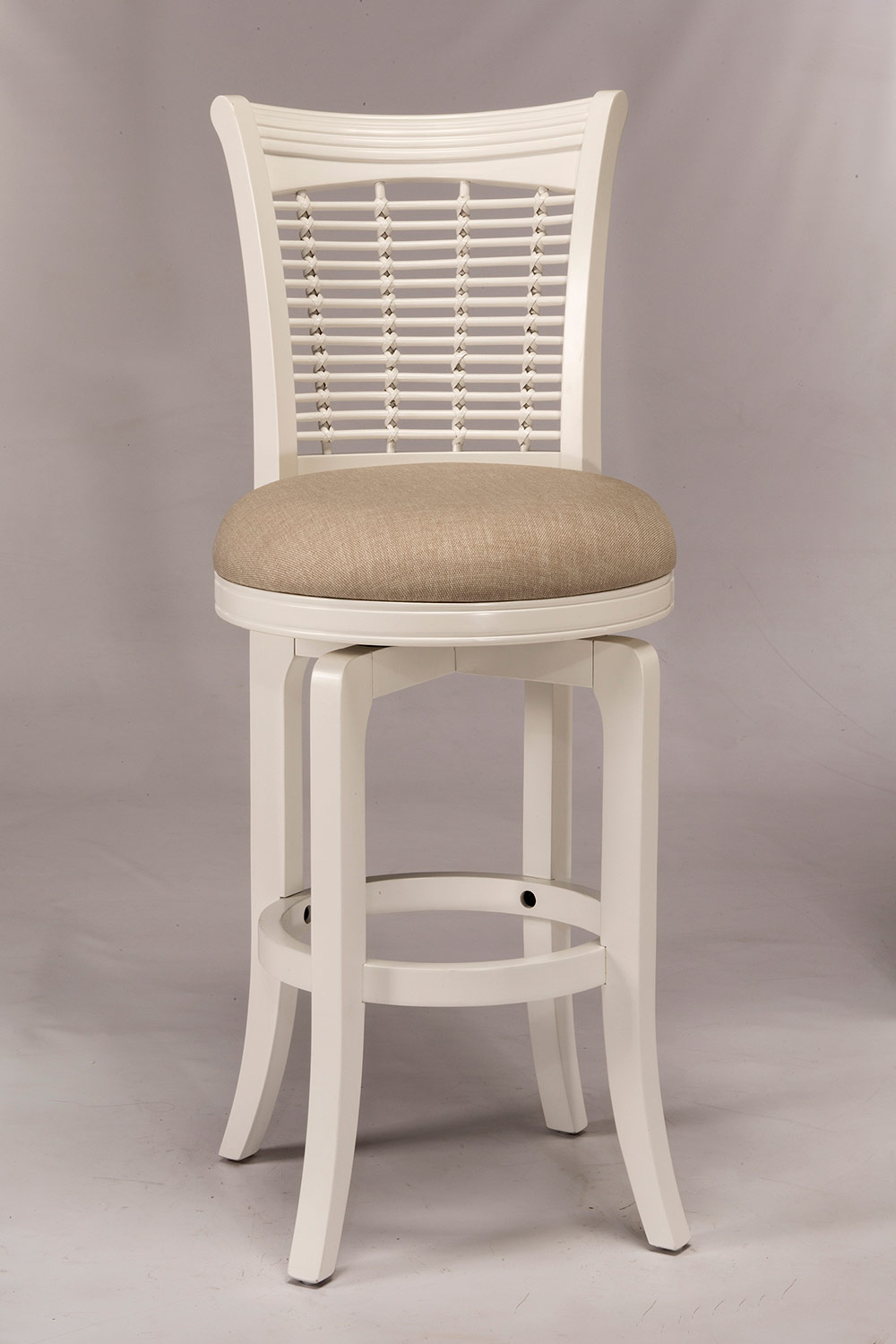 Hillsdale Bayberry Swivel Counter Stool - White
