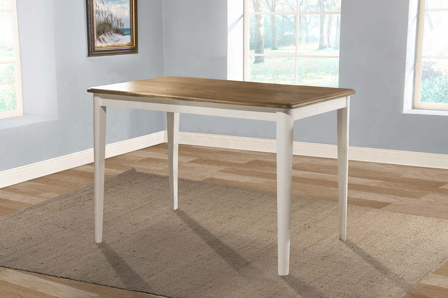 Hillsdale Bayberry Counter Height Extension Dining Table - White/Driftwood