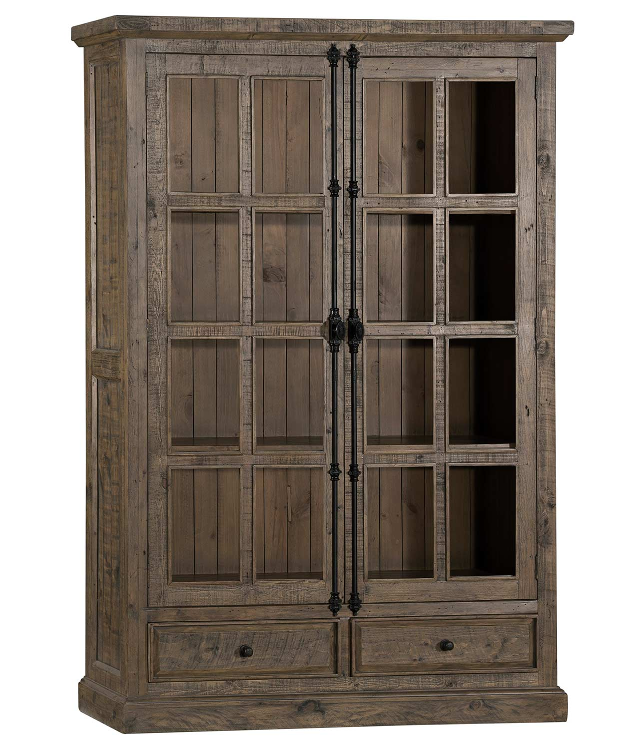 Hillsdale Tuscan Retreat Double Door Cabinet Aged Gray 5845 1074w