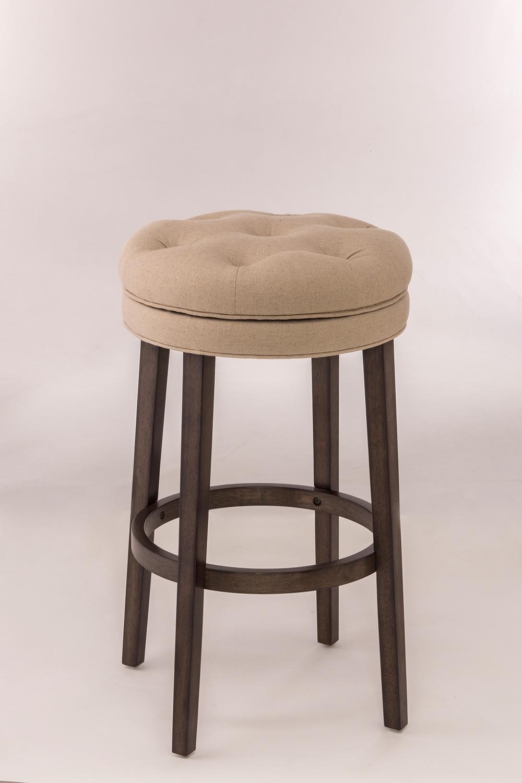 Hillsdale Krauss Backless Swivel Counter Stool - Linen Stone Fabric