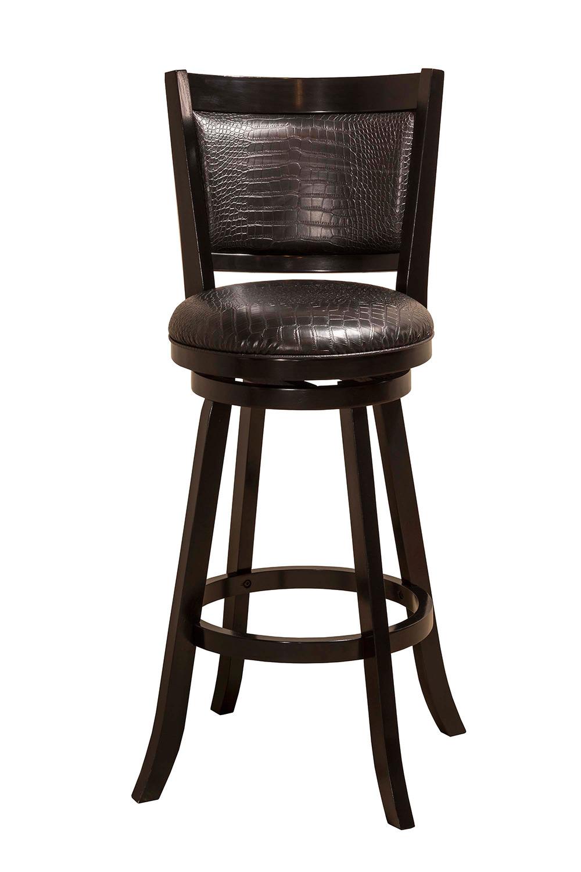 Hillsdale brannon swivel bar stool black 5936 830 for Black bar stools