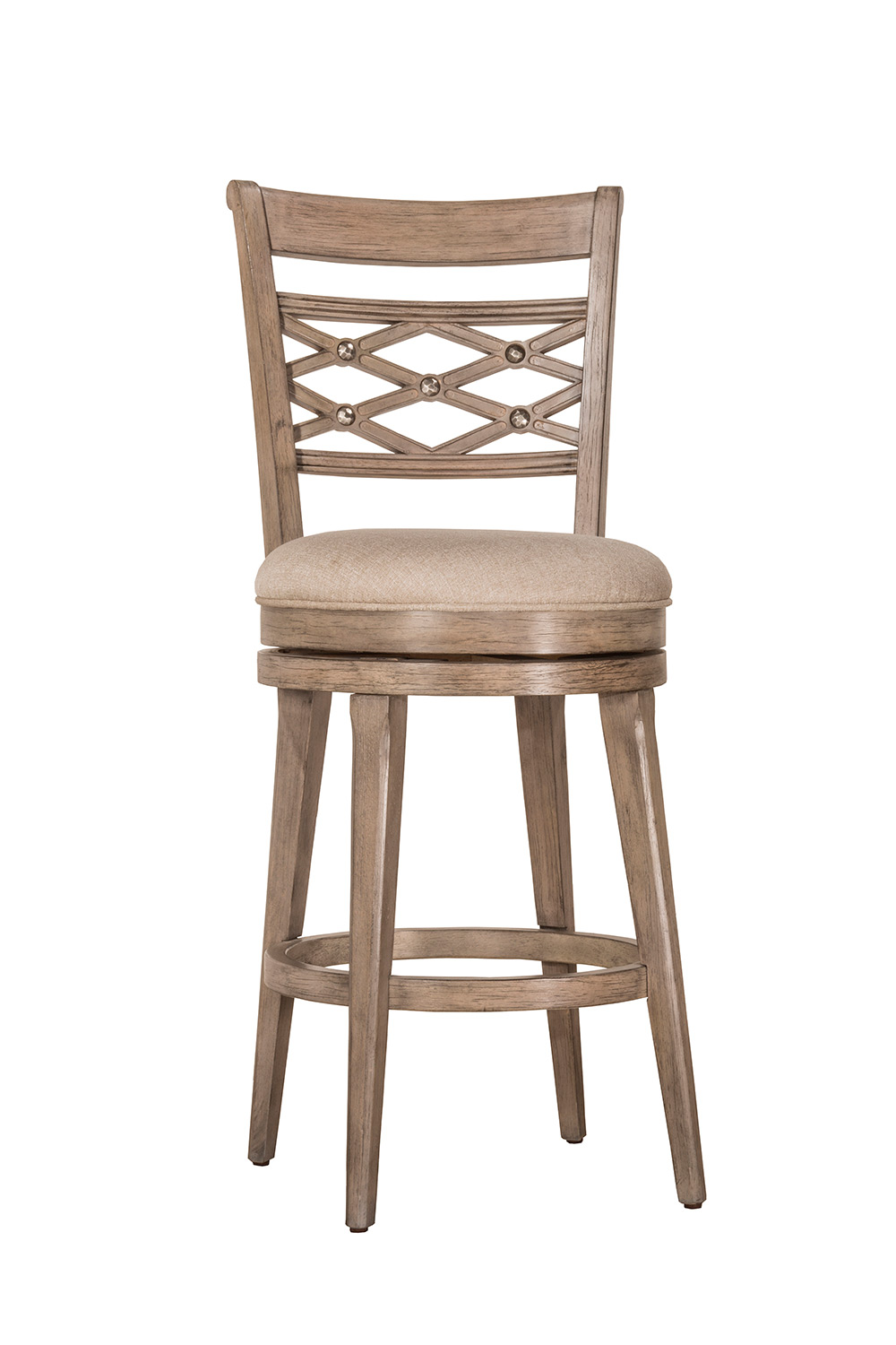 Hillsdale Chesney Swivel Counter Stool Weathered Gray