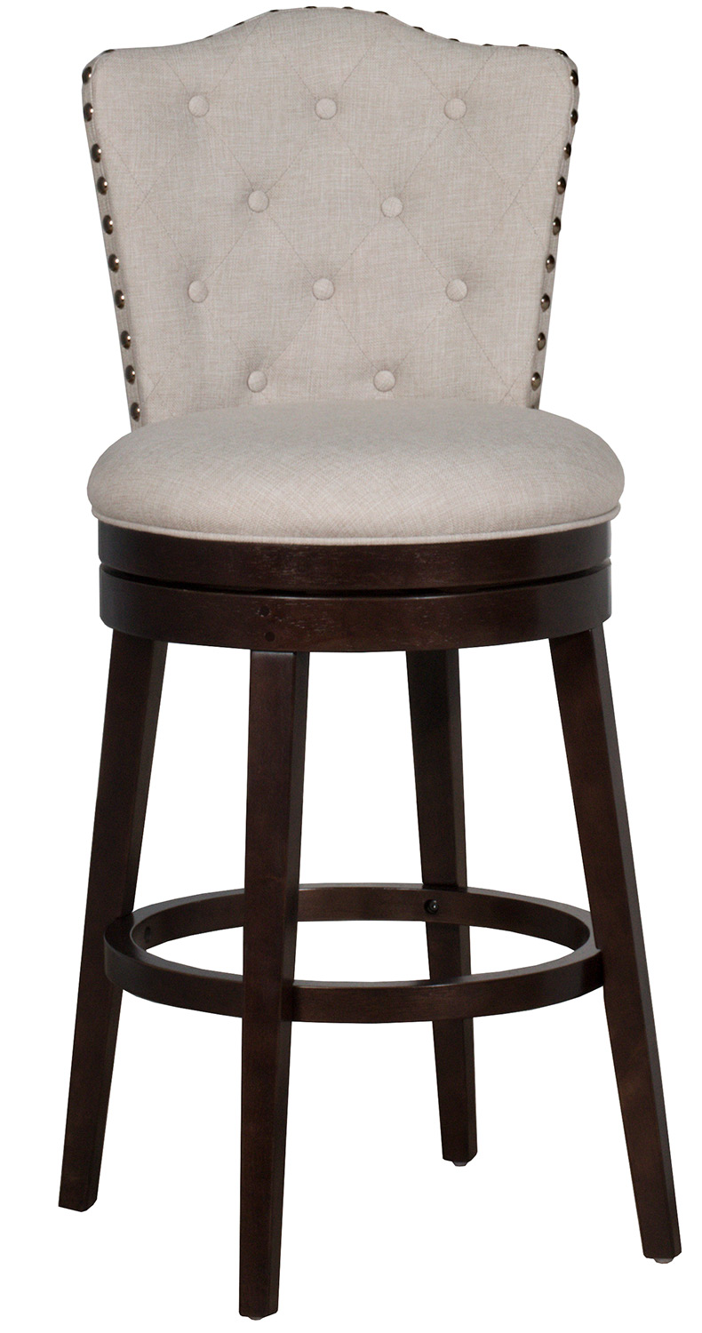 Hillsdale Edenwood Swivel Counter Height Stool - Cream Fabric