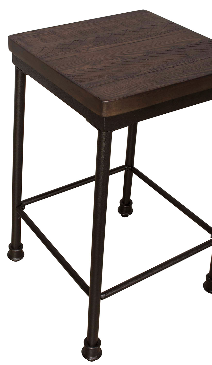 Hillsdale Castille Non-Swivel Counter Height Stool - Black/Walnut