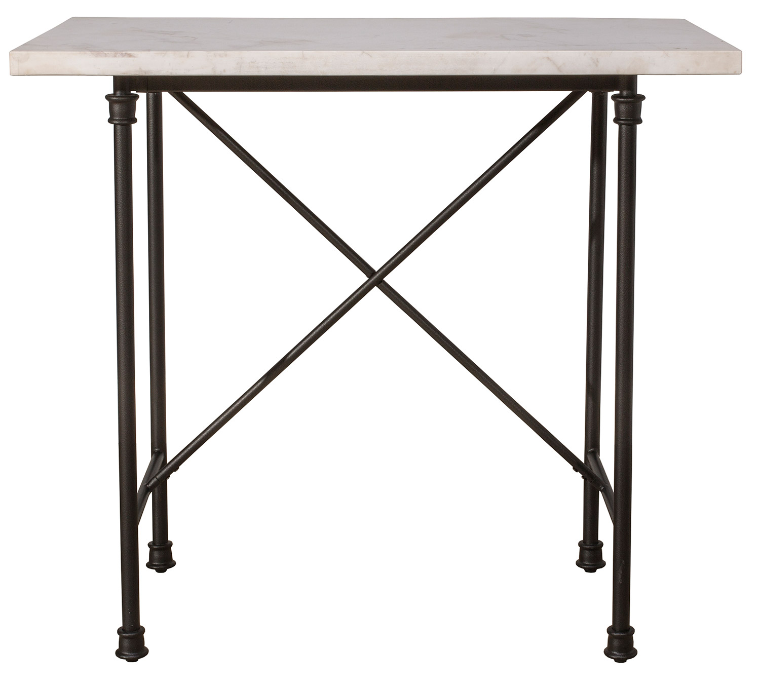 Hillsdale Castille Counter Height Table - Black/White