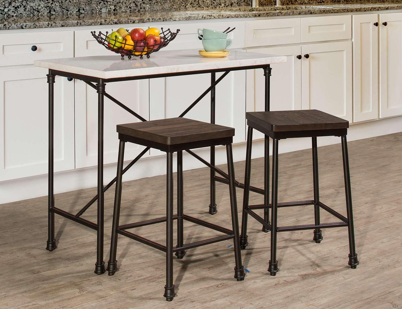 Hillsdale Furniture Castille Metal Kitchen Island