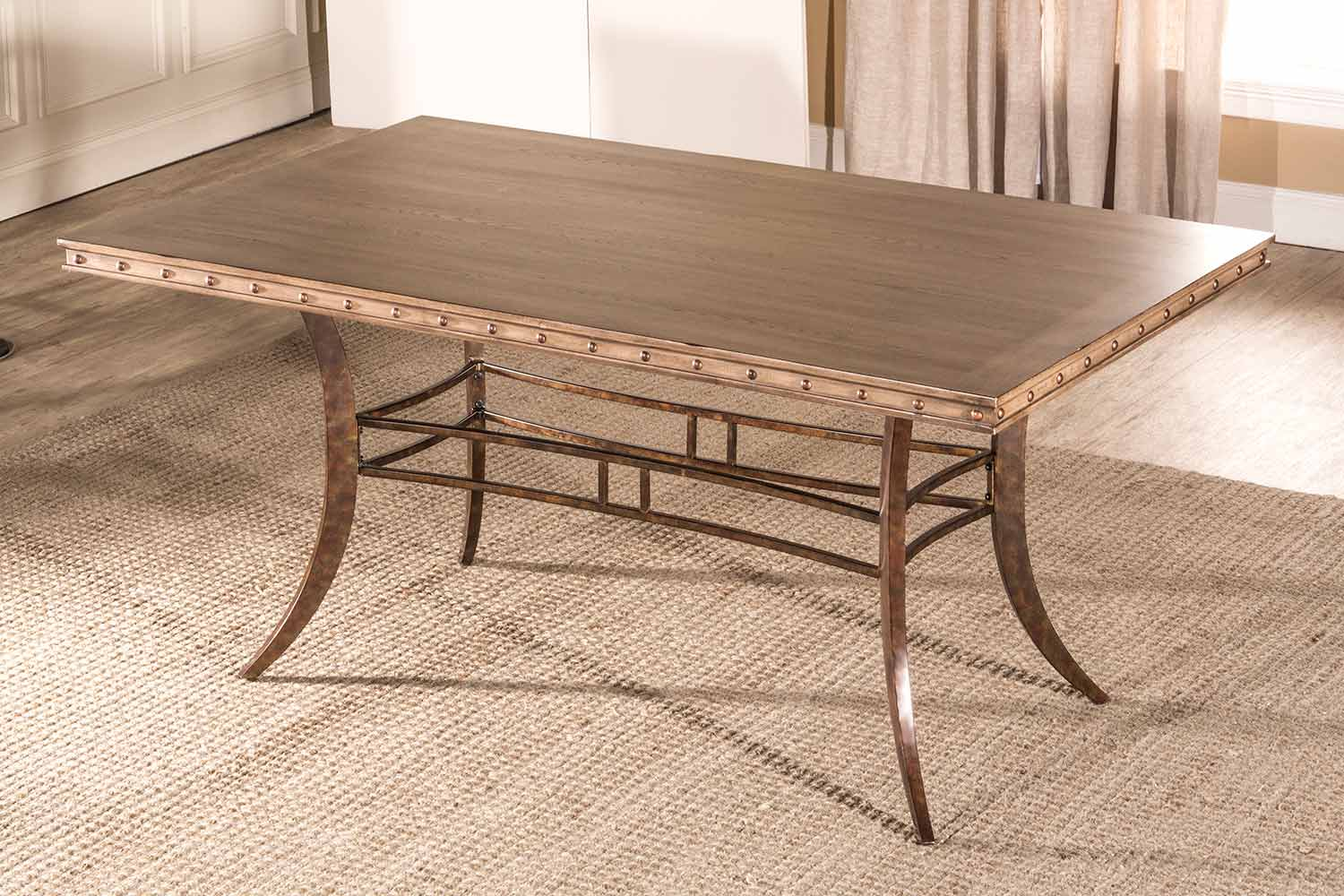 Hillsdale Emmons Rectangle Dining Table - Washed Gray