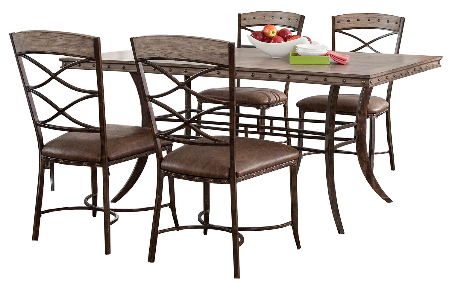 Hillsdale Emmons 5-Piece Rectangle Dining Set - Washed Gray